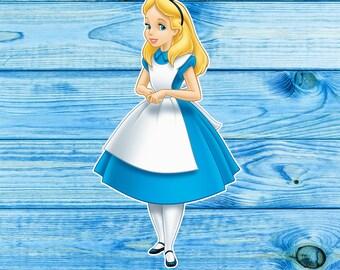 Alice in Wonderland die cuts, Alice Ephemera, Planner Girl, Alice in Wonderland stickers, Alice stickers, Alice die cuts, Bullet Journal