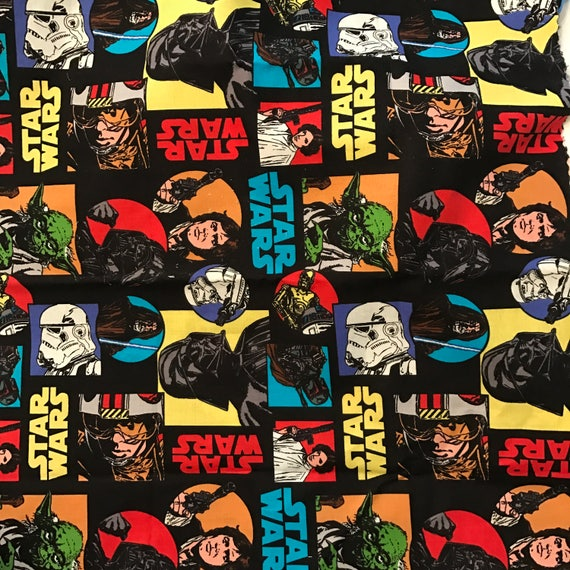 Star Wars Fabric Quilt Fabric Retro Star Wars Hans Solo Movies