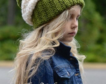 CROCHET PATTERN - Blynn Slouchy (Toddler, Child and Adult sizes)