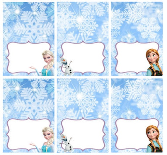 Handy image inside frozen party food labels free printable