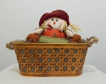 Pumpkin Patch, Fall Centerpiece, Scarecrow,  Autumn Decor, Fall Mantel Decor, Thanksgiving Decor, Fall Decoration, Fall Decorating