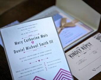 Printable Chevron Wedding Invitations