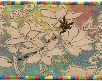 "Fairy Flowers 6x4"" Postcard Quilt"