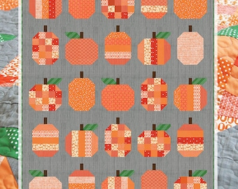 """Pumpkins Pattern by Cluck Cluck Sew, measures appro. 58"""" x 72"""""""