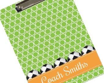 Personalized Soccer Coach Clipboard Custom Clipboards for Soccer Coaches Player Clip Board Gift of Appreciation Coach's Gift Team CLIP-550