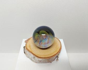 Rainbow Space Cloud  Meditation Marble,Glass Marble,  Boro Marble, Large Marble, Collectible Marble, Handmade Glass Marble, Vortex Marble