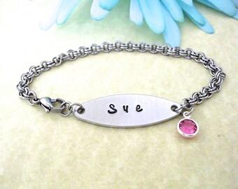 Name Bracelet, Gift for Her, ID Bracelet, Birthday Gift, Name Bracelet, Girl's Present, Girlfriend Gift, BFF Gift, Gift for Daughter