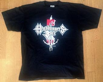 1991 Headbangers Ball MTV Shirt T-Shirt Size L 90's Metal Tee Shirt Death Hard Rock Danzig Megadeth Metallica Ozzy NOPr9pZs