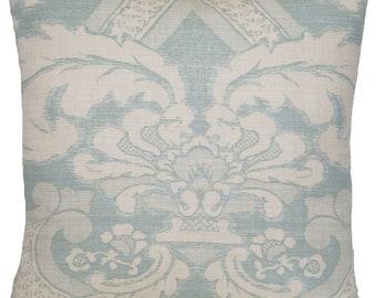Pale Blue Cushion Cover Fabric Meredith Osborne & Little Textile