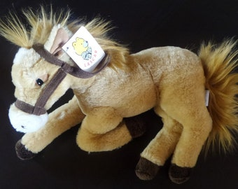 Plush horse layered beige - Rascal-