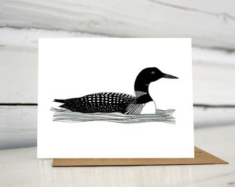 Loon illustrated greeting card