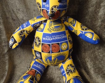 Go Warriors snuggle bear for the sports lovers