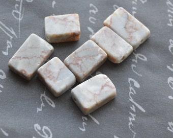 redline marble flat rectangle 19x13mm