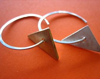 Triangular Swing Earrings