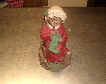 vintage tom clark mrs santa claus 3 figurine 1988 signed