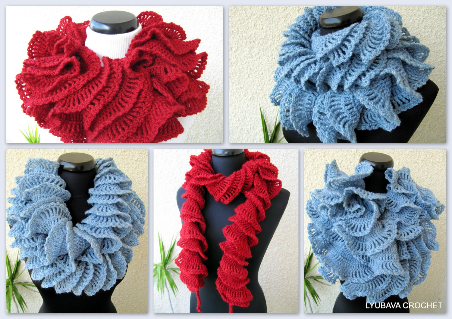 Crochet scarf pattern ruffle scarf pattern unique crochet zoom bankloansurffo Images