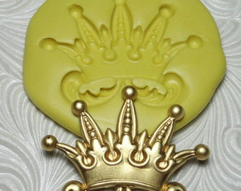 JESTER CROWN Flexible Silicone Rubber Push Mold for FIMO Resin Wax Fondant Clay Ice 1804