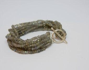 Multi Strand Labradorite Bracelet