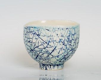 KOLA - Porcelain bowl, unique, handmade, OOAK