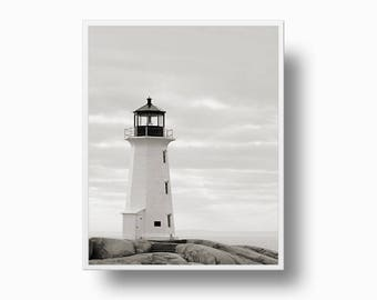 Lighthouse Print, Black and White Lighthouse Photo, Nautical print, Lighthouse printable, Seamen Nautical Printable Download, lighthouse