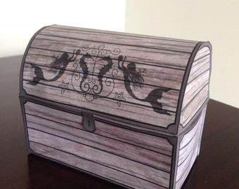 Mermaids & Pirates Party Treasure Chest (Favor Box) - Digital File