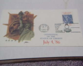 1986 STATUE OF LIBERTY First Day Cover- July 4