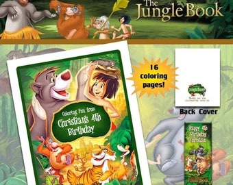 ON SALE The Jungle Book Coloring Book with Crayons