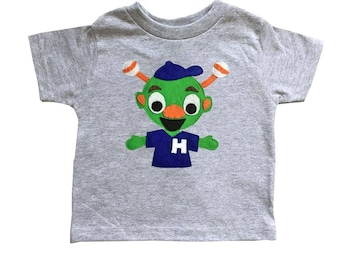 Astros Orbit Inspired - Kids Gray T-Shirt - Children's Clothing - Gift