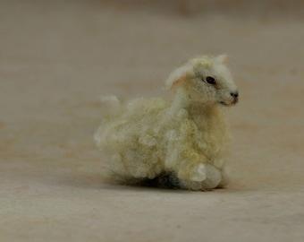 Needle Felted Sheep. Felt animal . Felted sheep for nativity scene.