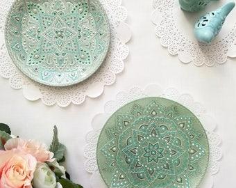 2 Decorative plates | Wall decor | Gift set | Wedding | Gift ideas | Birthday  sc 1 st  Etsy & Decorative plates | Etsy