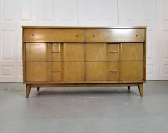 For Custom Order - Mid Century Modern Low Dresser.