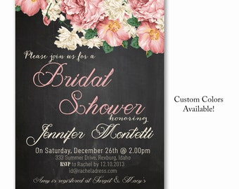 Bridal shower Baby shower Lingerie shower invite chalkboard peonies blush pink RUSTIC chic INVITATION Printable DIY (97) Digital (.jpg)