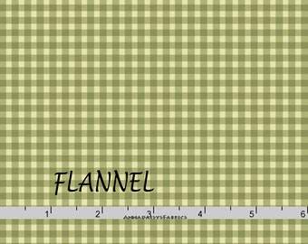 Green Gingham Check Flannel, Maywood Beautiful Basics & Welcome Home MASF 610 GG, Tone on Tone Green Check Cotton Flannel Yardage