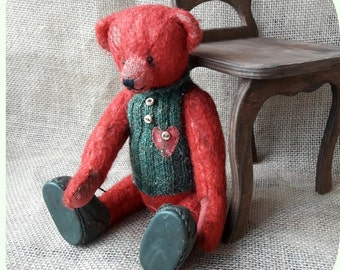 Christmas Teddy Bear Rozzо, gift toy, handmade, collectable toys, toy author