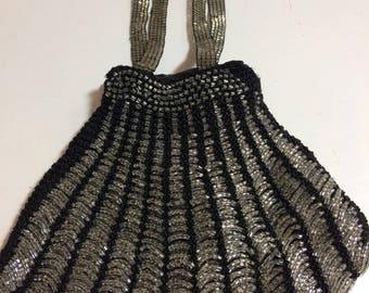 Glass Bead Art Deco Evening Bag
