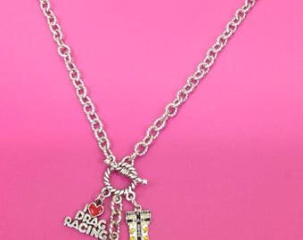 NHRA top fuel nitro dragster necklace Tracey's Racing Jewelry exclusive