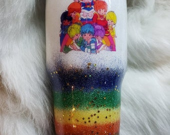 Rainbow Brite and the Color Kids Glitter Stainless Tumbler 30oz