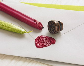 Wax seal monogram   Custom initial wax seal   Gift for Stationery lovers   Brass wax seal   Two day delivery   UK   Ships worldwide