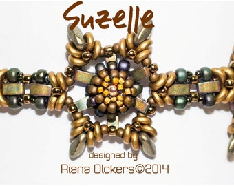 Beaded Bracelet Tutorial with Czech O Beads Miyuki Half Tila Beads Czech Mini Dagger Beads - Suzelle bracelet