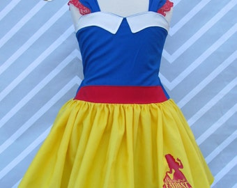 Girls Snow White costume inspired classic princess birthday party pageant costume cosplay dress