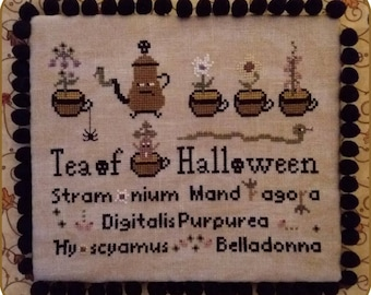 Tea of Halloween - PDF Cross Stitch Pattern
