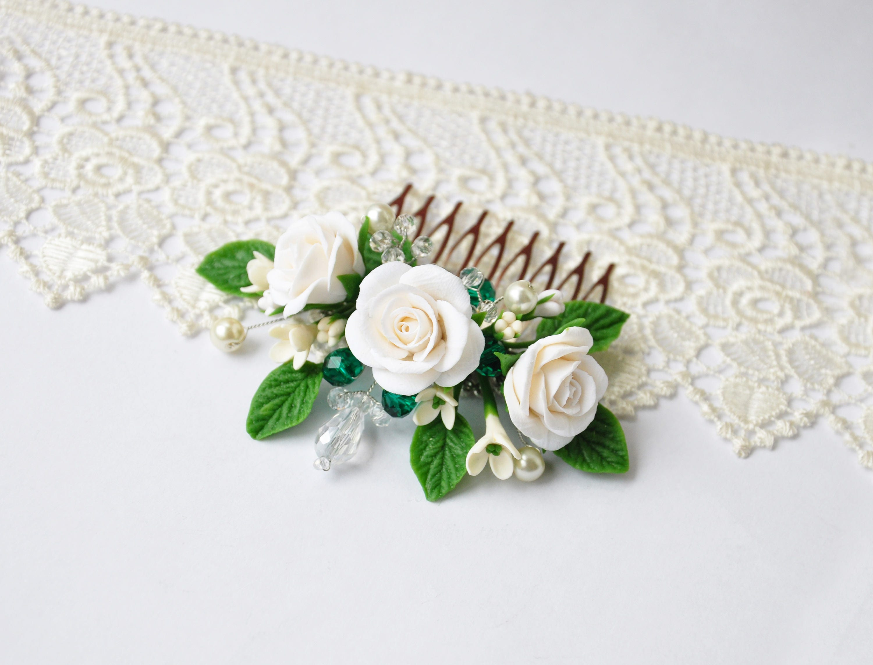 Wedding Comb For Hair Wedding Accessories Flowers In The