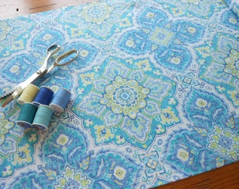 "Waverly Inspirations Fabric Tile Azure, Waverly Screen Print Cotton Duck Fabric 5 Yards x 45"""
