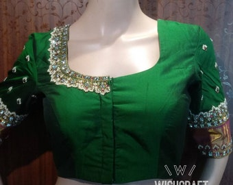 Wedding & party wear saree blouse