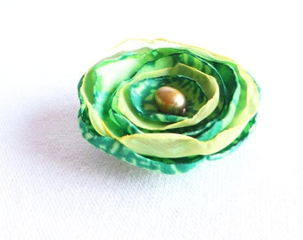 Spring Green Flower - Clip or Headband - Free Shipping in US