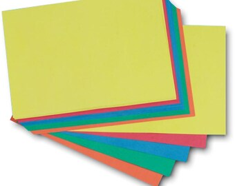 Recycled A3 Brite Card 285gsm Thick Five Bright Colour Large Sheet Craft Card Stock Choose Quantity