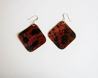 Lizard Leather Earrings