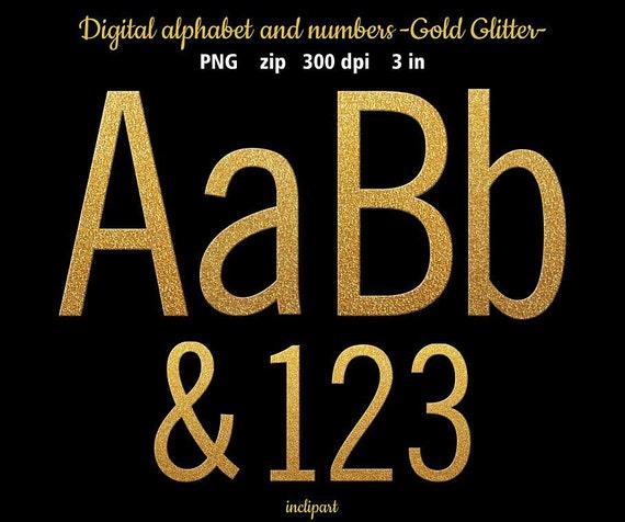 Gold Glitter Letters Numbers Symbols Clip Art Glitter Gold Alphabet
