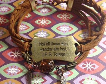 Not All Those Who Wander Are Lost  J.R.R. Tolkein bracelet
