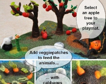 Build Your Own Custom Playmat Size M Nature Inspired Playscape Pretend Play Play-mat Waldorf Inspired Felted Birthday Present Christmas